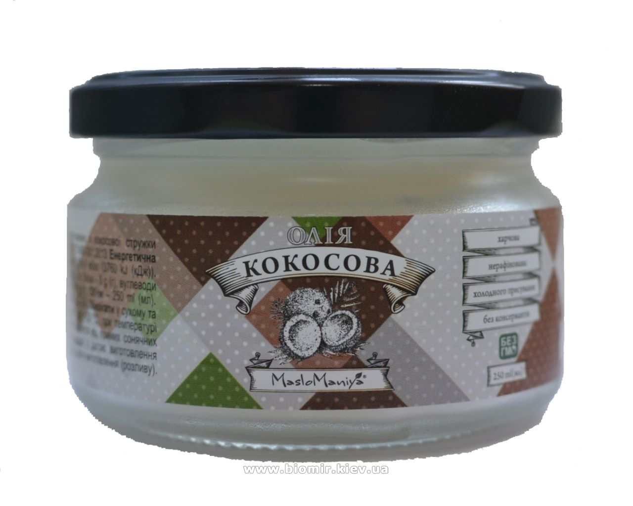 Натуральное масло кокоса  ТМ Масломания