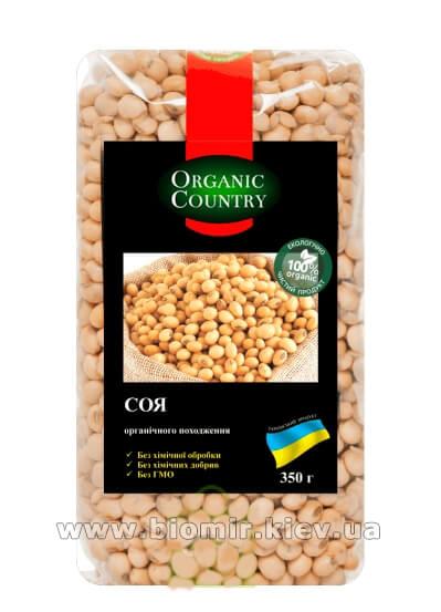 Соя органическая 350 грамм Organic Country