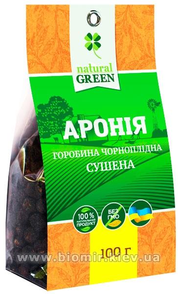 Арония сушеная, 100 г, NATURAL GREEN