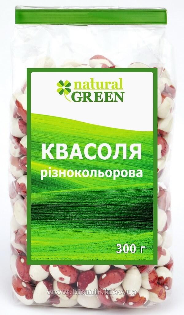 Фасоль цветная, Natural Green, 300 г