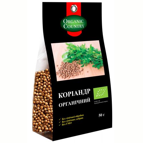 Кориандр органический, Украина, 100 г, ORGANIC COUNTRY