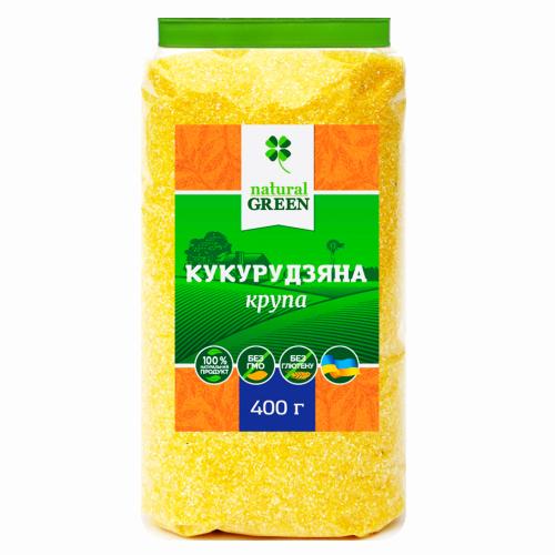 Кукурузная крупа, Natural Green, 400 г