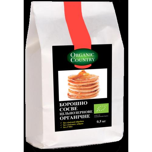 Мука соевая цельнозерновая органическая, 0,5 кг, Organic Country
