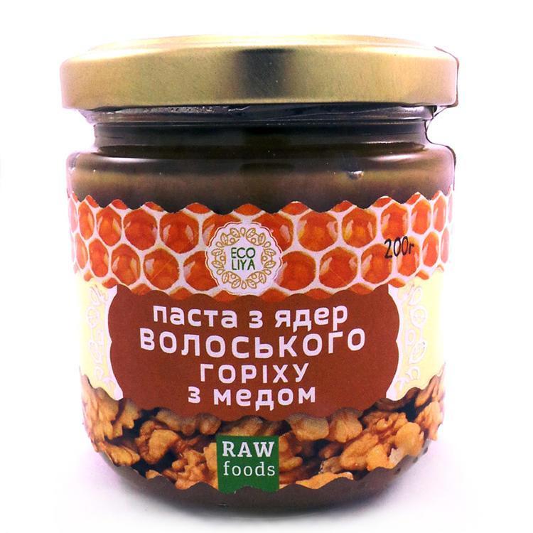 Паста из грецких орехов c медом (урбеч)