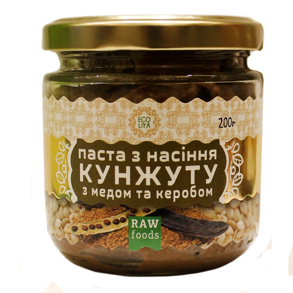 Паста из семян кунжута с медом и керобом Ekoliya