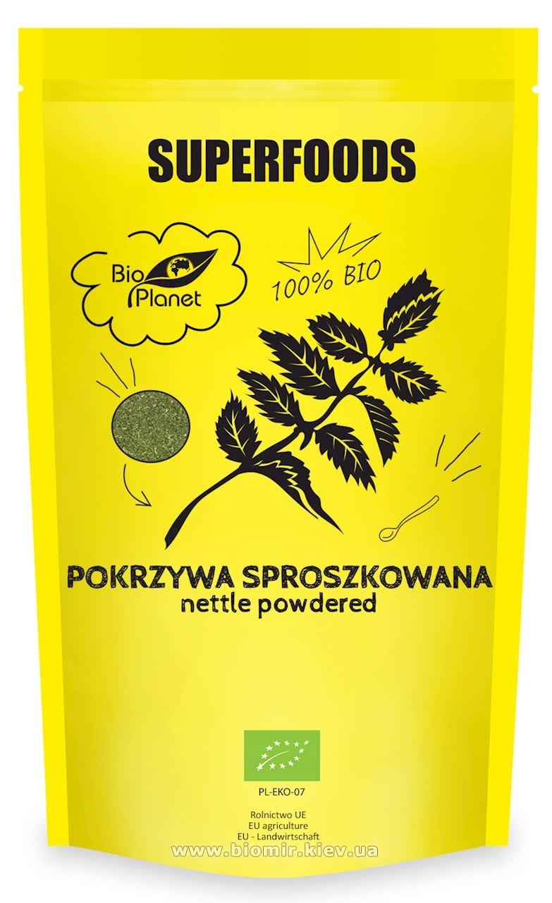 Порошок из листьев крапивы органический BioPlanet 100 гр.