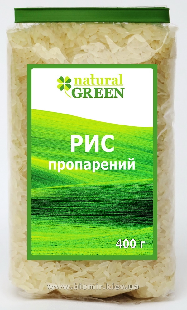 Рис пропаренный, Natural Green, 400 г